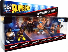 WWE Wrestling Rumblers Mini Figure 7-Pack Battle Royal #1 {Brawl Stars} [Punk, Kingston, Undertaker, Cena, Triple H, Morrison & Mysterio]