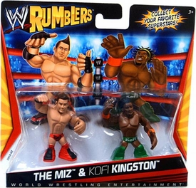 WWE Wrestling Rumblers Mini Figure 2-Pack The Miz & Kofi Kingston [Green Outfit]