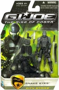 GI Joe Movie The Rise of Cobra 3 3/4 Inch Action Figure Snake Eyes [City Strike]