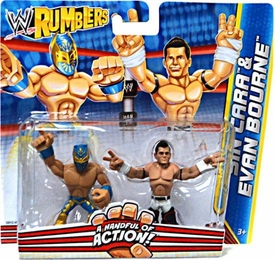 WWE Wrestling Rumblers Mini Figure 2-Pack Sin Cara & Evan Bourne
