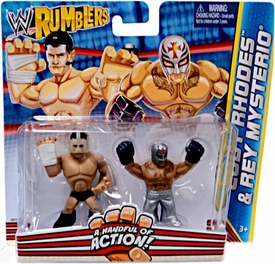 WWE Wrestling Rumblers Mini Figure 2-Pack Rey Mysterio & Cody Rhodes