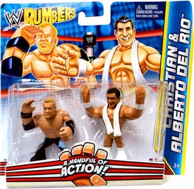 WWE Wrestling Rumblers Mini Figure 2-Pack Christian & Alberto Del Rio