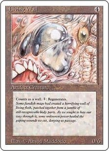 Magic the Gathering Revised Edition Single Card Uncommon Living Wall