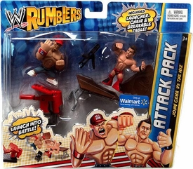 WWE Wrestling Rumblers Exclusive Attack Pack John Cena Vs. The Miz