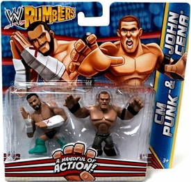 WWE Wrestling Rumblers Mini Figure 2-Pack CM Punk & John Cena