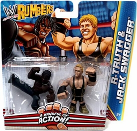 WWE Wrestling Rumblers Mini Figure 2-Pack R-Truth & Jack Swagger