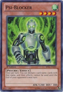 YuGiOh Battle Pack: Epic Dawn Single Card Common BP01-EN220 Psi-Blocker
