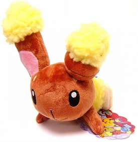 Pokemon DP Japanese Takara Tomy 5 Inch Plush Figure Buneary [Laying Down]