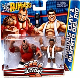 WWE Wrestling Rumblers Mini Figure 2-Pack Brodus Clay & Alberto Del Rio The Funkasaurus!