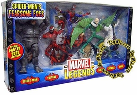 Marvel Legends Action Figure 5-Pack Boxed Set Spider-Man's Fearsome Foes [Spider-Man, Vulture, Lizard, Carnage & Rhino]