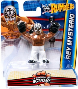 WWE Wrestling Rumblers Mini Figure Rey Mysterio [White Mask & Pants]