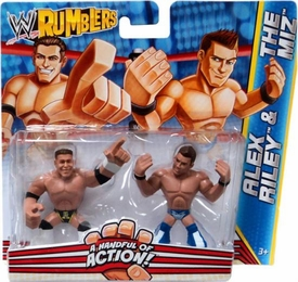 WWE Wrestling Rumblers Mini Figure 2-Pack Alex Riley & The Miz
