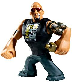 WWE Wrestling 2012 SDCC San Diego Comic Con Exclusive Rumblers Mini Figure The Rock [SDCC T-Shirt!]
