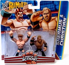 WWE Wrestling Rumblers Mini Figure 2-Pack Sheamus & Christian