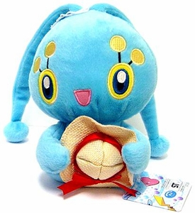 Pokemon Japanese Banpresto 5 Inch Beach Theme Plush Figure Manaphy w/ Straw Hat