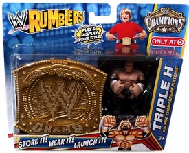 WWE Wrestling Rumblers Exclusive Triple H with WWE Championship Playcase