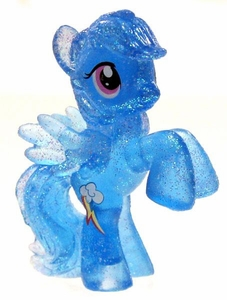 My Little Pony Friendship is Magic Exclusive 2 Inch PVC Figure Crystal Glitter Rainbow Dash