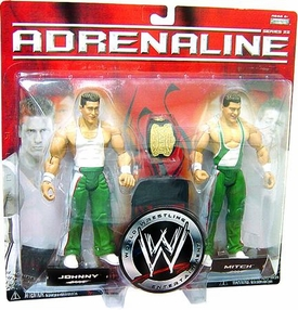 WWE Jakks Pacific Wrestling Adrenaline Series 22 Action Figure 2-Pack Johnny & Mitch [Spirit Squad]