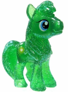 My Little Pony Friendship is Magic Exclusive 2 Inch PVC Figure Crystal Glitter Emerald Ray