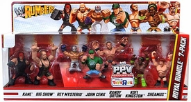 WWE Wrestling Rumblers Mini Figure Royal Rumble 7-Pack [Kane, Big Show, Rey Mysterio, John Cena, Randy Orton, Kofi Kingston & Sheamus]