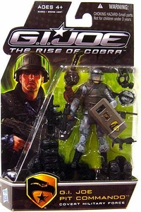 GI Joe Movie The Rise of Cobra 3 3/4 Inch Action Figure Pit Commando [Covert Military Force] Holding Shield Variant