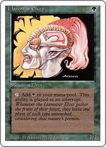 Magic the Gathering Revised Edition Single Card Common Llanowar Elves