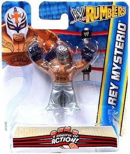 WWE Wrestling Rumblers Mini Figure Rey Mysterio [Silver Mask & Pants]