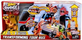 WWE Wrestling Rumblers Rampage Playset Transforming Tour Bus [The Rock Figure]