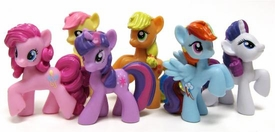 My Little Pony Friendship is Magic Set of the Mane Six 2 Inch PVC Figures [Twilight Sparkle, Pinkie Pie, Rainbow Dash, Rarity, Applejack & Fluttershy]