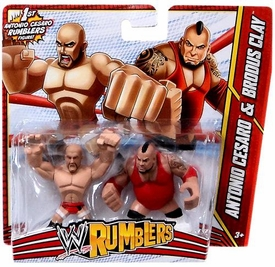 WWE Wrestling Rumblers Mini Figure 2-Pack Antonio Cesaro & Brodus Clay