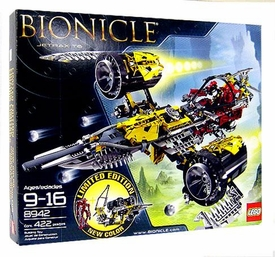 LEGO Bionicle Set #8942 Jetrax T6 Limited Edition Yellow Ship Version!