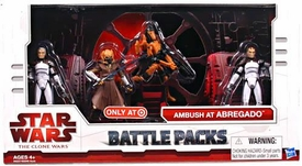 Star Wars 2009 Legacy Collection Exclusive Action Figure Battle Pack Ambush at Abregado [Plo Koon, Rocket Battle Droid, Clone Troopers Sinker & Boost]