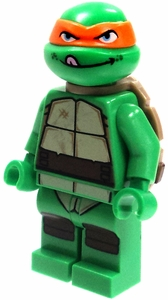 LEGO Teenage Mutant Ninja Turtles LOOSE Mini Figure Michelangelo [Version 1]