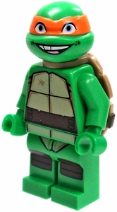 LEGO Teenage Mutant Ninja Turtles LOOSE Mini Figure Michelangelo [Version 2]