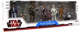 Star Wars 2009 Exclusive McQuarrie Concept #1 Boxed Set of 6 Action Figures [Obi-Wan Kenobi, Yoda, Chewbacca, Han Solo, Boba Fett, C-3PO & R2-D2]
