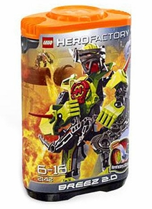 LEGO Hero Factory Set #2142 Breez 2.0 [Orange Cap / Green Figure]