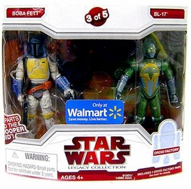 Star Wars Legacy Collection Exclusive Build A Dark Trooper Droid Action Figure 2-Pack Boba Fett & BL-17 [#3 of 5]