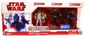 Star Wars Saga 2009 Evolutions Exclusive Legacy Collection Set Imperial Pilot Legacy {Series II} [Clone Pilot, Clone Pilot & Imperial Pilot]