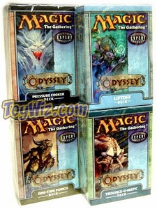 Magic the Gathering Odyssey Theme Deck Set of 4 Decks