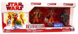 Star Wars Saga 2009 Evolutions Exclusive Legacy Collection Set Rebel Pilot Legacy {Series III} [John Branon, Shira Brie & Jake Farrell]