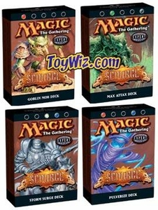 Magic the Gathering Scourge Theme Deck Set of 4 Decks