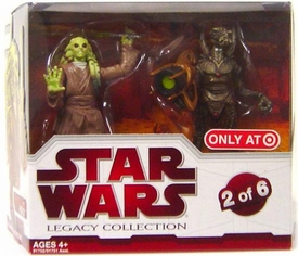 Star Wars 2009 Legacy Collection Geonosis Arena Showdown Exclusive Action Figure 2-Pack Kit Fisto & Geonosian Warrior [#2 of 6]
