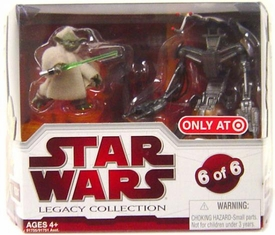 Star Wars 2009 Legacy Collection Geonosis Arena Showdown Exclusive Action Figure 2-Pack Yoda & Droideka [#6 of 6]
