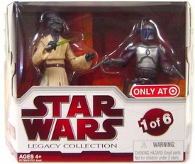 Star Wars 2009 Legacy Collection Geonosis Arena Showdown Exclusive Action Figure 2-Pack Coleman Trebor & Jango Fett [#1 of 6]