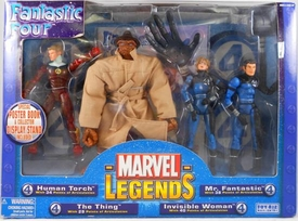 Marvel Legends Exclusive Action Figure 4-Pack Boxed Set Fantastic Four [Human Torch, The Thing, Mr. Fantastic & Invisible Woman]