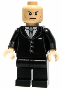 LEGO DC Universe LOOSE Mini Figure Lex Luthor in Black Suit