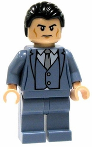 LEGO DC Universe LOOSE Mini Figure Bruce Wayne in Gray 3 Piece Suit