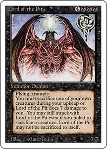 Magic the Gathering Revised Edition Single Card Rare Lord of the Pit
