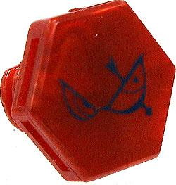 Beyblades Metal Fusion LOOSE Parts Face Bolt Pearl Red with Sagittario Print