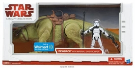 Star Wars 2009 Legacy Collection Exclusive Action Figure 2-Pack Dewback with Imperial Sandtrooper